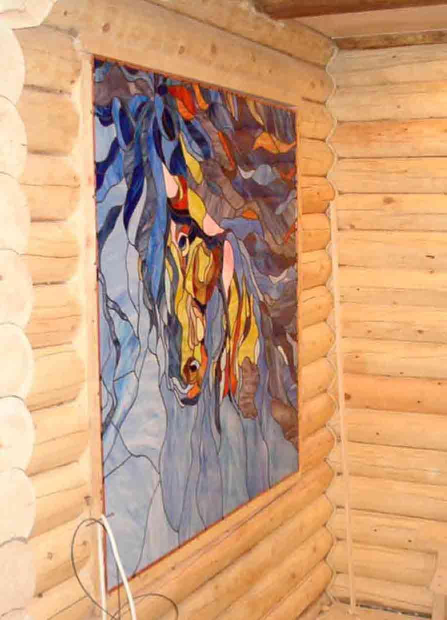 витражные вставки в потолок